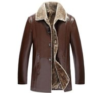 Wholesale qiu dong jacket - 2017 New Qiu Dong Han Edition Men's Business Casual Leather Jacket Men's Fashion And Thickening Leather Jacket