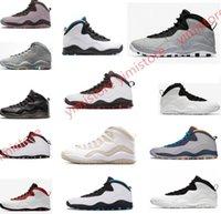 siyah serin ayakkabılar toptan satış-Çimento Westbrook X geri 10 10 s Erkekler Basketbol Bobcats Chicago Serin Gri Toz Mavi Çelik Gri siyah beyaz Ayakkabı spor Sneakers 41-47
