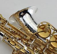 instruments de musique professionnels achat en gros de-YANAGISAWA A-992 Saxophone Alto Mib Argent Plaqué Corps et Plaqué Or Clé Apparence Parfaite E Instruments de Musique Professionnels Plat Avec Étui