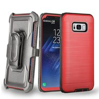 Wholesale heavy swivels - For Samsung Note 9 Defend Case Full-Body Dual Layer Heavy Duty Impact Phone Case Swivel Belt Clip Kickstand For Samsung Galaxy Note 9