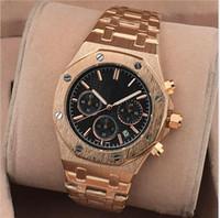 luxury watches venda por atacado-2018 Novo Todos Subdials Trabalho AAA Homens Relógios Hardlex Esporte Relógios De Pulso De Quartzo Cronômetro de Luxo Assista Marca Top para homens relojes Melhor Presente