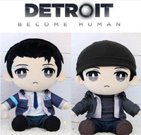 Wholesale dress hat online - Detroit Become Human DBH Connor RK800 Plush Doll Stuffed Pillow Plush Toy Dress Up Clothes Hat Cute Novelty Items CCA10474