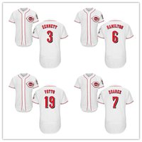 Wholesale Brown Scooters - Custom Cincinnati Baseball #3 Scooter Gennett #6 Billy Hamilton #19 Joey Votto #7 Eugenio Suarez 23 Duvall Jerseys Any Name Number S-4XL