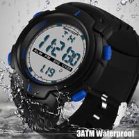 Wholesale fun digital - SANDA Fashion Men Sports Watches Waterproof Outdoor Clock Fun Digital Watch Swimming Diving Wristwatch 269 Reloj Hombre Montre Homme 2018