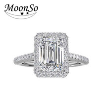Wholesale Finger Promise Ring - whole sale925 sterling silver 9mm stone wedding Engagement Fashion finger Zircon the blue Rings for Women promise MR1997