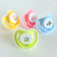 Wholesale baby feeding for sale - Newborn baby cartoon Pacifiers infant Food Grade Silicion Nipples Feeding Safe Girl Boy Gift C3577