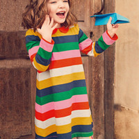 Wholesale christmas outwear - Princess Dress with Animals Printed Girl Tunic Jersey Dress 2018 Children Summer Clothing for Girls Outwear
