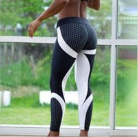 Wholesale tight sexy yoga pants for sale - women Honeycomb Printed Yoga Pants Push Up Sexy Fitness Leggings Running Tights Gym Jogger Trousers Sport Clothing LJJK962