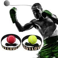 bandeaux achat en gros de-Boxe Punch Exercice Lutte Balle Avec Bande Tête Pour Entraînement De Vitesse Réflexe Entraînement De Boxe Antistress Jouet En Plein Air BBA295 150pcs