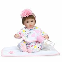 Wholesale house environmental - Dolls Cute Simulation Soft Rubber Environmental Protection Realistic Baby Girls Play House Pop High Temperature Silk Wigs