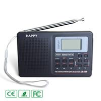 radio lw mw sw al por mayor-Negro Banda completa Radio Digital FM AM SW MW LW Banda mundial Radio estéreo Receptor digital Desmodulador TV Sonido Antena externa