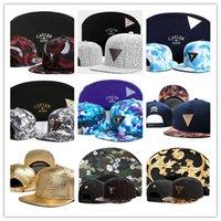 ücretsiz swag şapkaları toptan satış-Ücretsiz Kargo Swag marka Cayler Sons kahverengi Deri Snapback hip hop spor kap erkekler kadınlar için beyzbol şapkası kemikleri snapbacks kemik gorras