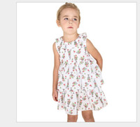 kaufen sommerkleider großhandel-neue Auflistung heiße verrückte Ansturm zu Mädchen Sommerkleid Baumwolle Kuchen Blume Kinder Prinzessin Kleid Mädchen Kleid Sommer zu kaufen