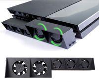 super cooling fan 도매-USB 냉각 팬 5 쿨러 팬 외부 터보 온도 조절 플레이 스테이션 4 용 슈퍼 터보 PS4 콘솔 게임 액세서리