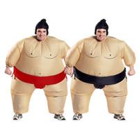 les gars drôles achat en gros de-Halloween Hommes Femmes Drôle Sumo Lutteur Big Guy Cosply Costumes Homme Femme Partie Mascotte Costumes Livraison gratuite