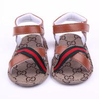 ingrosso sandali rossi infantili-Sandali bambino Toddler Estate Bambini Ragazzi Ragazze PU Scarpe da primo camminatore Baby Fashion Sandalo antiscivolo