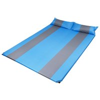 Wholesale self inflating camping mats resale online - Outdoor Persons Automatic Self Inflatable Mattress Cushion Camping Mat Thickening Inflating Hiking Travel Beach Moisture Sleeping Pad
