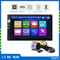 reproductor de dvd mp4 mp5 al por mayor-Envío gratis YENTL 7010B 2 Din Car Video Player DVD del coche 7 pulgadas Bluetooth FM Radio Car MP5 Player Audio estéreo 7