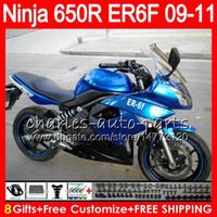 обтекатель мото оптовых-Кузов для Kawasaki NINJA 650R ER-6F 650 R ER6F 09 10 11 кузов 114HM.5 Ninja650R ER6 F ER 6F синий 2009 2010 2011 Moto обтекатель комплект