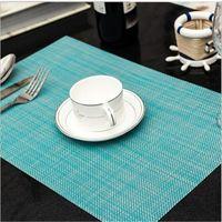 yemek masaları ücretsiz gönderim toptan satış-Otel Restoran Modern Placemats Renkli Fincan Bardak Paspaslar Masa Paspaslar Kase Ped Isı Yalıtım Kayma Ressistant Yemek Bar Mat ücretsiz gemi