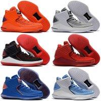 orange sneakers rabatt großhandel-Mens Basketball Schuhe 32 XXXII CNY Fluggeschwindigkeit zoom J32 PF MVP Schwarz Zement Rot Russell Westbrook Gold Herren Turnschuhe traoner Rabatt