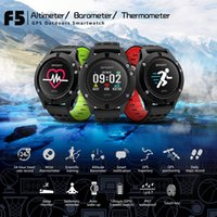 outdoor gps android ip67 großhandel-F5 Outdoor Sports Smart Uhr GPS Uhr Pulsmesser Fitness Tracker Smartwatch IP67 Wasserdichte APP Connect Iphone Android