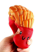 Wholesale new squishies - New Slow Rising Squishies High Quality Kawaii Cute Jumbo French Fries Soft Scented Bread Cake Squishy Stretch Kid Toy Free DHL