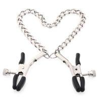kettennippel klammerklemme großhandel-Adult Metal Nippelklemmen Mit Ketten Brustklammern Sexspielzeug Für Paare Sex Produkte Für Frauen Erotikspiele