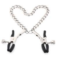 pinces à tétons achat en gros de-Pinces à tétons en métal pour adultes avec chaînes Pinces à seins / pinces Jouets sexuels pour couples Produits pour femmes Jeux pour adultes