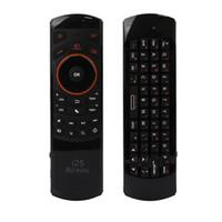tablet pc arabe al por mayor-Rii i25 2.4G Mini teclado inalámbrico árabe versión Fly Air Mouse Ergonómico mando a distancia para Tablet PC Android Smart TV Box