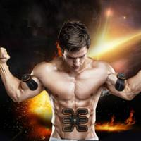Wholesale Electronic Muscle Stimulation - New Electronic Body Muscle Promotion Body Toning Massager Abs Electrical Muscle Stimulator Fit Body Training Gear Toning Stimulation