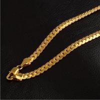 altın kaplama modern takı toptan satış-5mm Modern Lüks Erkek Takı 18 k Altın Kaplama Zincir Kolye Yetişkinler Için Zincirler Kolye Hediyeler Güzel Pretty Aksesuarları Hip Hop
