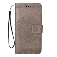 Wholesale goophone s7 edge plus online – custom Aesthetic support cover for samsung galaxy s7 edge case Embossed sunflower PU kickstand case for Goophone X wallet case with hanging strap