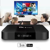 kostenlose arabische fernsehkanäle iptv großhandel-2018 Iptv Abonnement TX3 Mini S905W 2G RAM 16GB ROM Unterstützung 4K TV Box HD Netzwerk Set-Top Box Android 4K Player Android 7.1