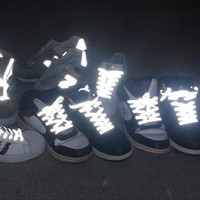 10 Pair Conspicuous Double Side Reflective Runner Safety Luminous Glowing Shoelaces Unisex For Sport Basketball Canvas Shoes