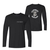 модные сорочки оптовых-Новая мода футболки мужская с длинным рукавом хлопок черный повседневная О-образным вырезом забавный графический футболки мода повседневная Tee топ