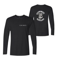 Wholesale funny graphic shirts - New Fashion T-shirts Men's Long Sleeve Cotton Black Casual O-Neck Funny Graphic Tshirts Fashion Casual Tee Top