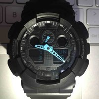 Wholesale watches retail men - Sport Watches Hardlex New Arrival Plastic Men Retail Fashion Watch ga100 ga110 Time Zone Watch Drop Shipping