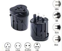 евро адаптеры оптовых-Новый US AUS UK EURO Universal Chargers AC Power Plug Worldwide Travel Adapter конвертер 5 шт./лот для мобильного телефона, Ipad, таблетки, высокое качество