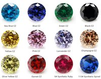 Wholesale loose cz - Multi Size 1.5~12mm 12 Colors Mix Color 50pcs lot AAAAA Round Brilliant White Larger Cubic Zirconia Stones Loose CZ Gems For Jewelry