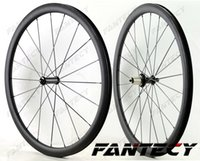 Wholesale light 38mm clincher online - Sprint super light Climbing carbon wheels mm depth mm width clincher Tubular Road bike carbon wheelset UD matte finish