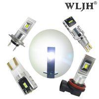 Wholesale t15 auto bulb - WLJH 1500LM Auto Car Light Led H7 H8 H11 H1 H3 T10 W3W T15 Light Fog Lamp Bulb Day Running LED DRL Light