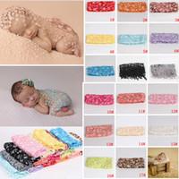 Wholesale newborn photography backdrop wholesale for sale - 140cm Infant Photography Props Lace Blanket Newborn Floral Backdrops Wraps Photo Prop Baby Soft Wrap Blanket colors AAA981