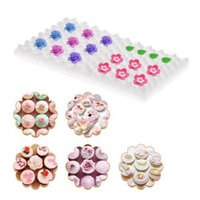 secando flores al por mayor-Fondant Cake Tools Fondant Flower Shaping Esponja Pad Cake Moldes para la Cocina Hornear Cake Decorating Drying DIY Sugar Craft