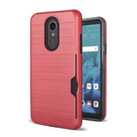 Wholesale zte grand x covers for sale – best 2 in Brushed Credit Card Pocket Cover For ZTE Avid Z916 Warp N9150 Grand X Z959 ZMAX Champ Z917VL ZMAX Hybrid Armor Cover Case