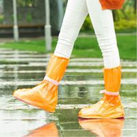 pattern pink rubber shoes großhandel-Wasserdichte Regen-Schuh-Abdeckungen PVC-Unisexwiederverwendbare Regen-Stiefel-Überschuhe tragen halten sauberes im Freien 9 Farben NNA887