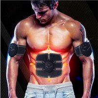 Wholesale Abdominal Belts - Abdominal Muscle Toner Trainer Toning Belt, Abs Trainer Wireless Body Gym Belt Massager Pad Workout Home Office Fitness Equipment