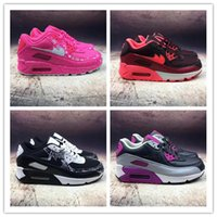 Cojines Rojos Púrpura Baratos-2018 High Quality Airs Cushion 90 zapatillas Maxes mujeres transpirables Sneakers mujeres Athletic Sports Trainers rosa / morado / rojo talla 36-40