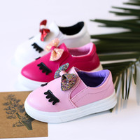 Wholesale children casual wear - Fashion new 2018 Spring Autumn toddler shoes baby shoe Children Casual Shoes cute sequin Girl Shoes Kids FootwearToddler wear A1655