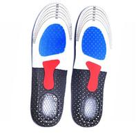 спортивные стельки оптовых-1pair Unisex Orthotic Arch Support Sport Shoe Pad Sport Running Gel Insoles Insert Cushion for Men Women